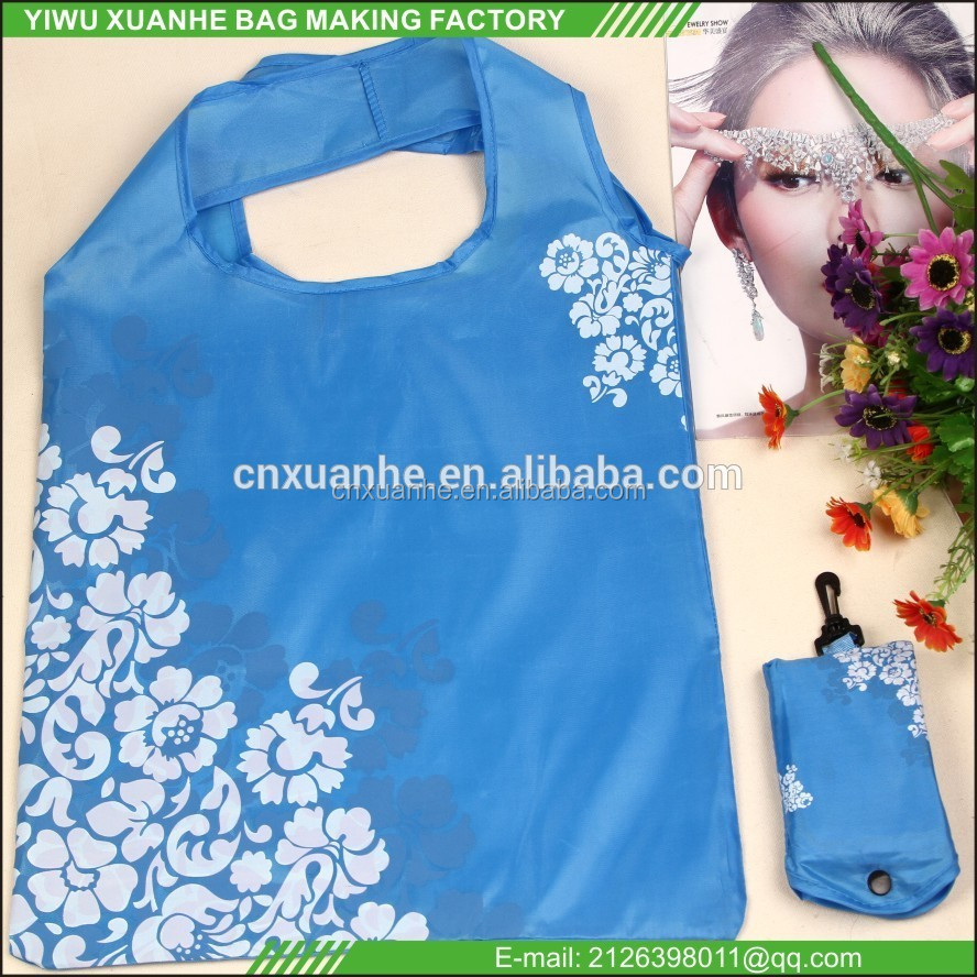 factory price <strong>ECO</strong> 210d polyester shopping bag in phone bag