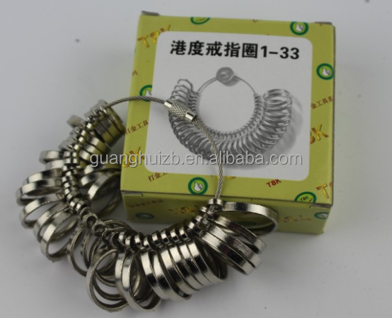HK SIZE Ring Sizer Standard Jewelry Tool Metal Ring Sizer