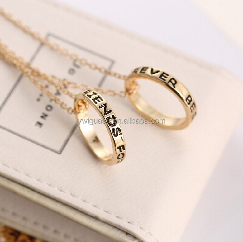 fashion alloy rhinestone magnetic dumbbell shark tooth rings necklace