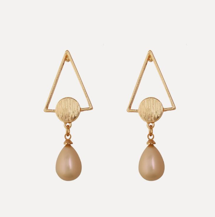 Collection Here 2019 Hot Style Korean Version Pearl Simple Tassel Pendant Earrings Jewelry Gift Ample Supply And Prompt Delivery Jewelry & Accessories
