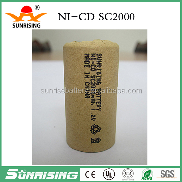 NiCd Rechargeable battery 1.2v sc2000 ni cd battery pack for power tools