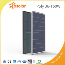 Factory direct sale 140W 150W 160W 36 cells Polycrystalline Solar Panel (Black and Silver)