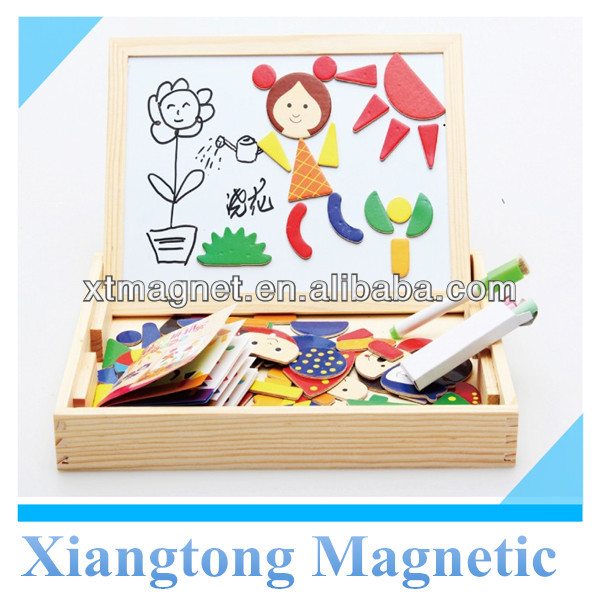 Fantasic Wooden Easel Magnetic Jigsaw Puzzle for Children toy