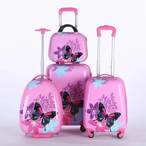 wholesale fashion lightweight abs pc 360 degree wheel telescopic trolley smart luggage set kids children suitcases bobby bags