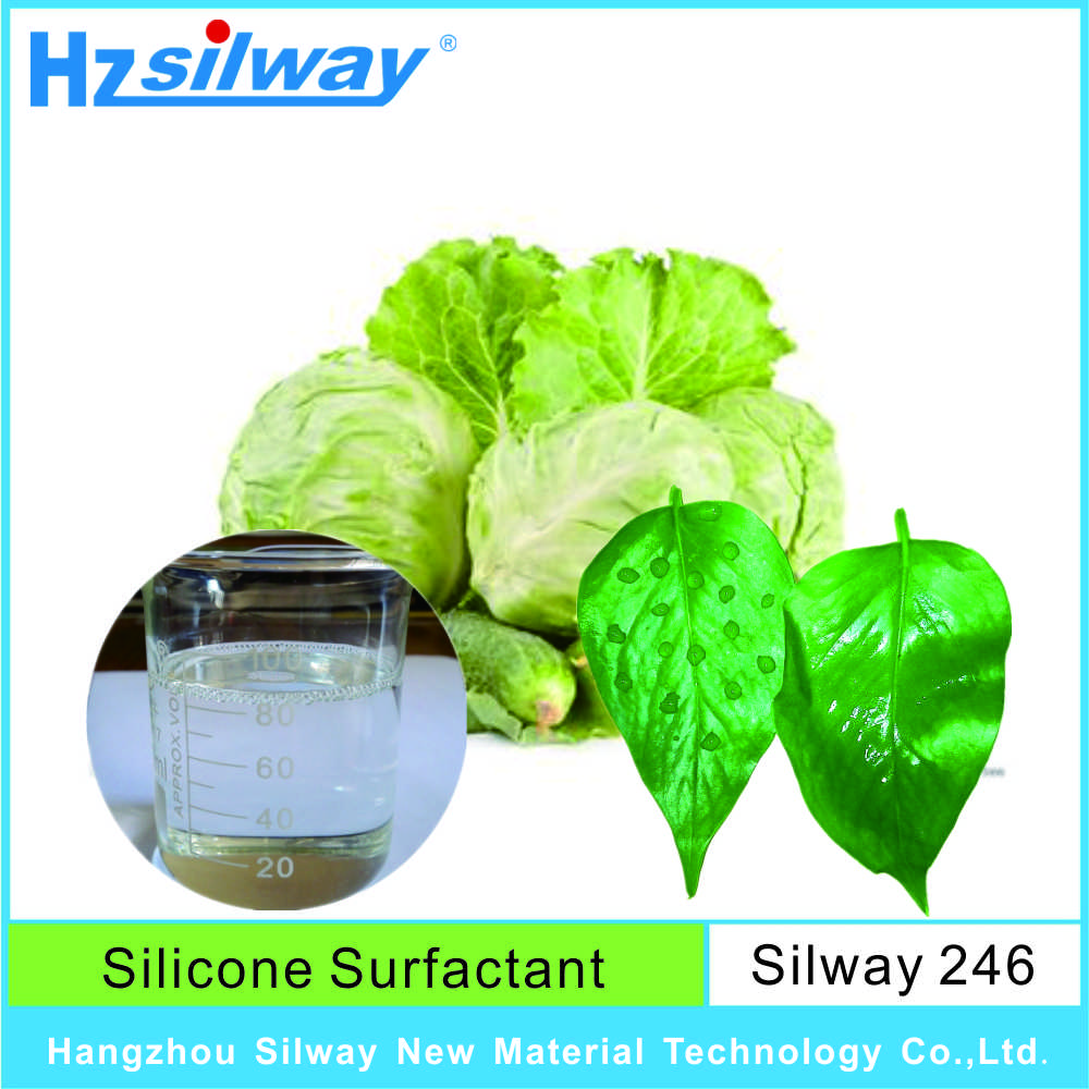 Silway 246 Polyalkyleneoxide modified heptamethyltrisiloxane Agricultural Surfactant with low foam