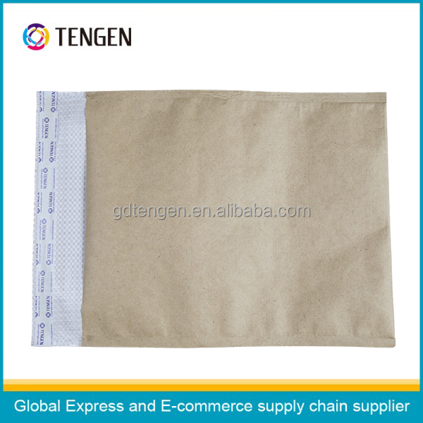 Mini kraft paper document envelope with lining nest bag books envelope for mailing packing bags