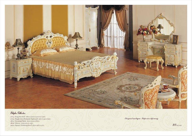 Stile europeo mobili camera da letto barocco francese - Camera da letto in francese ...