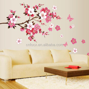 waterproof wall background sticker / bedroom cafe wall stickers home