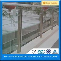 frameless balcony railing design glass/frameless u channel balustrade