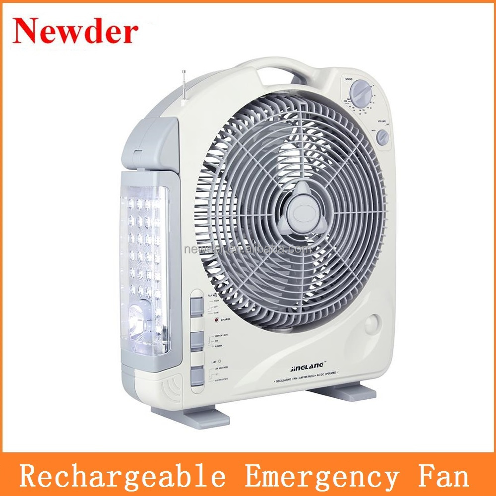 12 Rechargeable Battery Operated Fan With Light Model 292bl