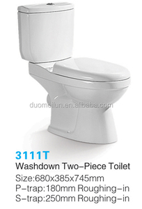 Roca Ceramic Toilet Design Two Piece Bathroom Commode