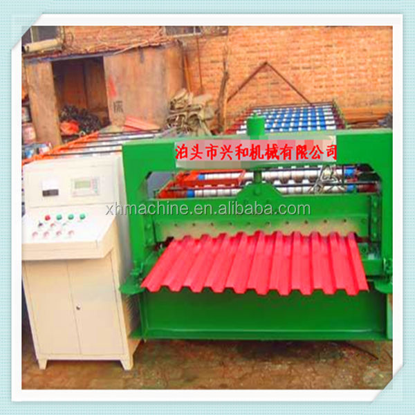 C21 Roofing Sheet Roll Forming Machine Making Trapezoidal Roof Panel thickness 0.3mm - 0.6mm