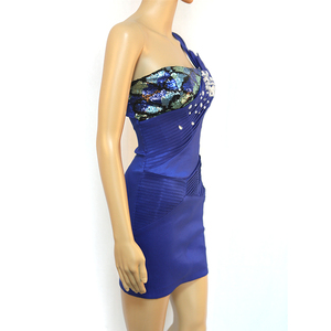 Best Selling Perfect Party Piece Blue Glitter Dress