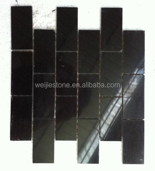 2x4 Brillant Anti Fondu Noir Galaxy Marbre Mosaïque Pour Dosseret De ...