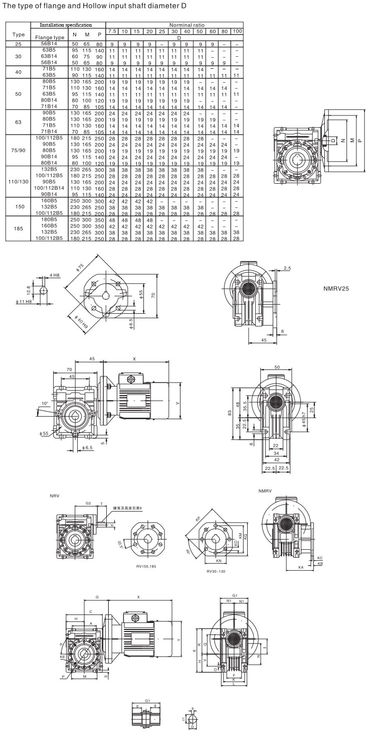 Design widely used worm rolling shutter gear box
