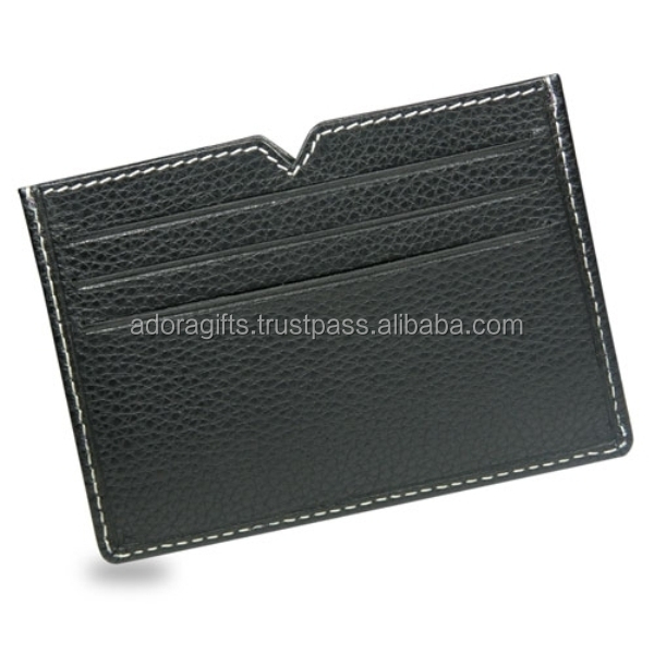 RFID blocking wallet business credit id card holder PU leather wallet