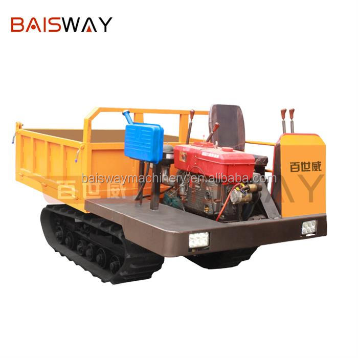 Baisway 2000 kg load big power rubber tracked crawler dumper