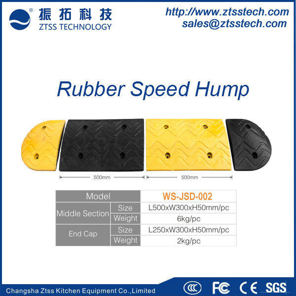 Black&yellow high reflective Rubber Speed Bumps / Rubber Speed Hump / Road Speed Ramp