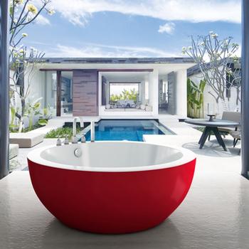 Round Shape Red Color Big Size Acrylic Bathtub Buy Acrylic Bathtubred Color Acrylic Bathtubround Shape Acrylic Bathtub Product On Alibabacom