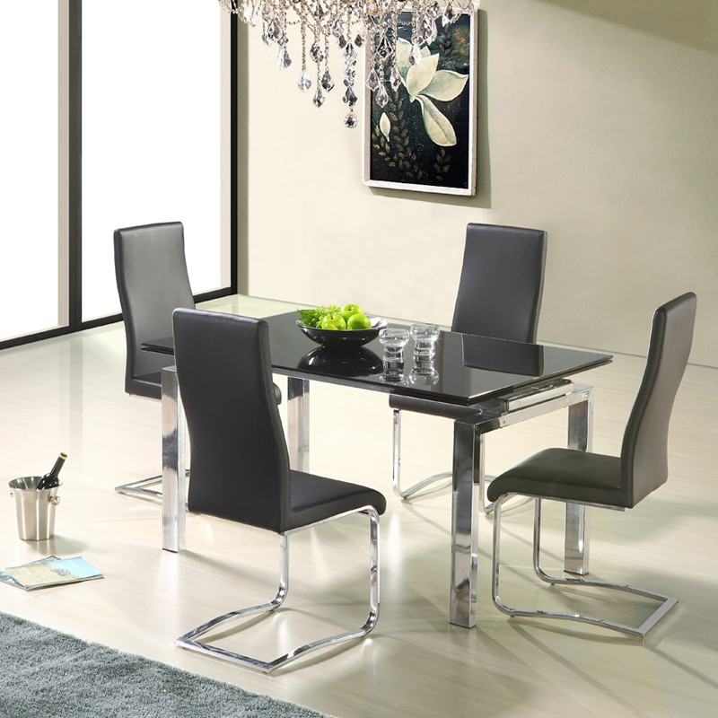 rectangular extendable dining table modern ch 815 buy extendable