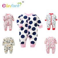 Elinfant Infants & Toddlers clothing cotton Knitted Baby romper newborn baby clothes