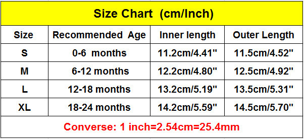 Converse Baby Shoes Size Chart