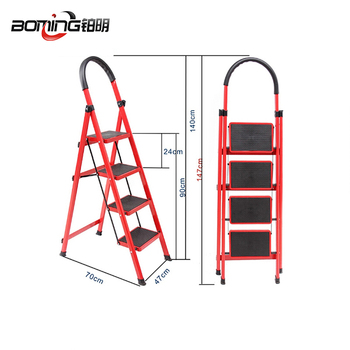 4 Steps Portable Indoor Folding Aluminum Stairs   Buy Aluminium Folding  Stairs,4 Step Stairs,Portable Indoor Stairs Product On Alibaba.com