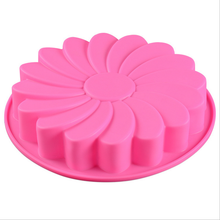 Sunflower Cake Mold Silicone Chocolate Pizza Cake Pasty Mould Bakeware Baking Pan Cupcake Chocolate Sugarcraft Decor Kitchen Too