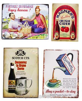 Affiches Plaque Decoratives Vintage En Metal De Cuisine En Relief