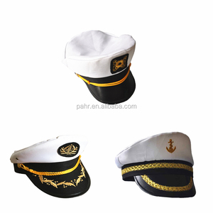 89ca13de4d528 Men Women Cotton Sailor Captain Hat Uniforms Costume Party Cosplay White  Yacht Captain Hat
