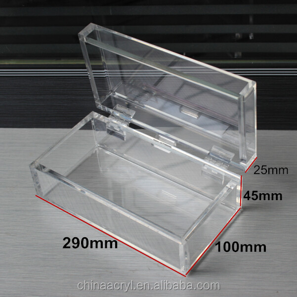 Clear Acrylic Display Box With Hinged Lids Buy Clear Acrylic