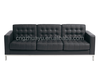 Replica Sofa Replica Three Seater Florence Knoll Leather Sofa  Buy Florence
