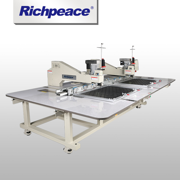 For Heavy Material Richpeace Two Heads Automatic Sewing Machine