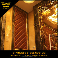 custom Modern Interior Mirror finished stainless steel decorative wall panels