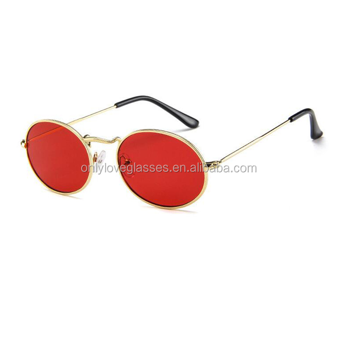 Round Frame Sunglasses Men Women Retro Vintage Gold Black Lens Sun Glasses UV400 Male Female Metal Eyewear Driving