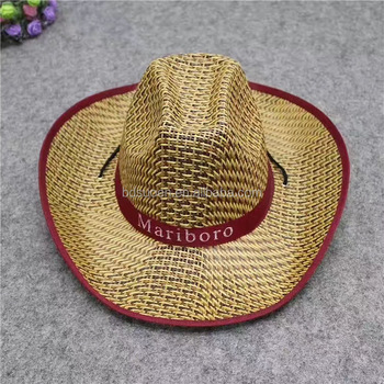 Mexican Style Cheap Summer Straw Cowboy Hat Big Wide Brim Sombrero ... c80f28b655c