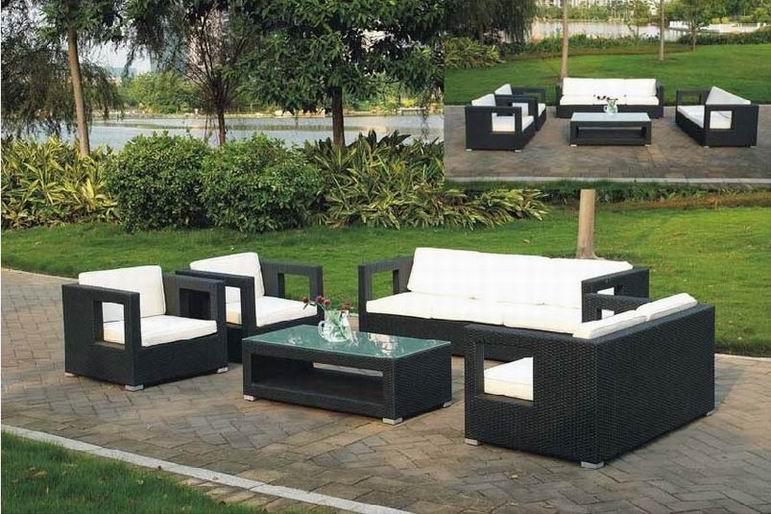 5pc Modern Outdoor Backyard Wicker Rattan Patio Furniture