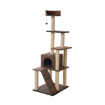 Wholesale Big Size Cheap Tree Houses ,High Quality Wooden Cat Scratching Tree