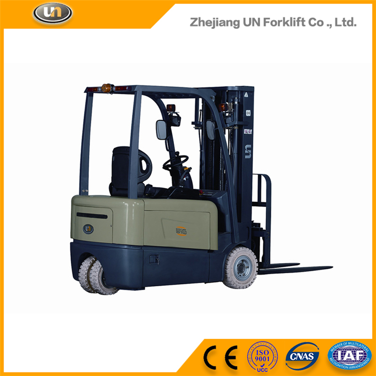 Three Wheel Electric Forklift Truck 1.3T With ZAPI Controller