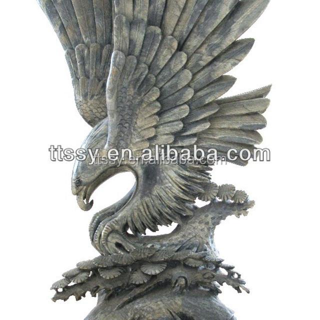 Large Bronze Garden Eagle Statues