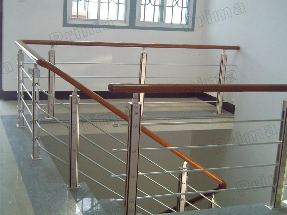 Harga Stainless Steel Prefab Metal Stairs Railing For Sale