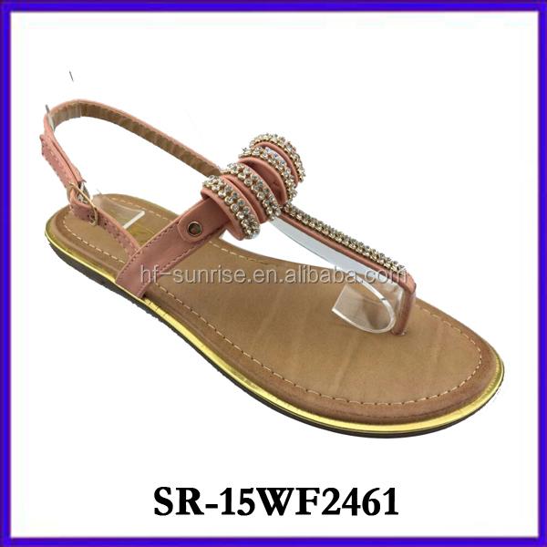 New Design Ladies Shoes Fancy High Heel Wedges Woman Sandal