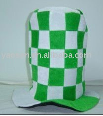 fashion green velour top hat for St Patrick Day