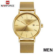 Часы NAVIFORCE для пар, роскошные кварцевые мужские часы, женские простые наручные часы для мужчин и женщин, водонепроницаемые часы для влюбленн...(China)