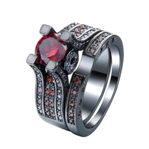 pave ruby multicolour rings jewelry for men rings set 2016 wholesale