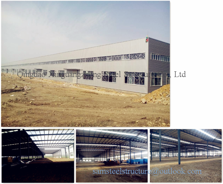 Portal frame steel structure warehouse in China