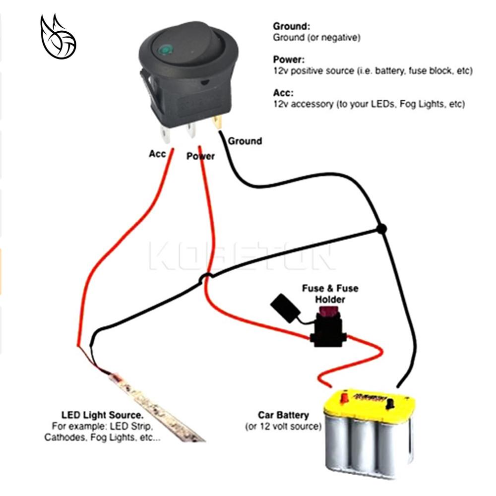 Electric Vehicle Parts 2019 16a 12v Waterproof Spst Switch Led Dot Light Car Boat Round Rocker On/off Spst Switch Z822 #30