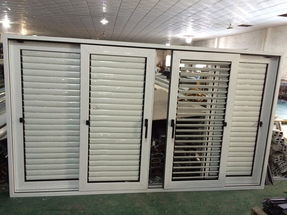 aluminum oval sliding shutter window jalousie sliding