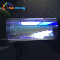 Newest design hot selling high thermal clear colorful chameleon rainbow car window tinting film foil with size 152cm*30m