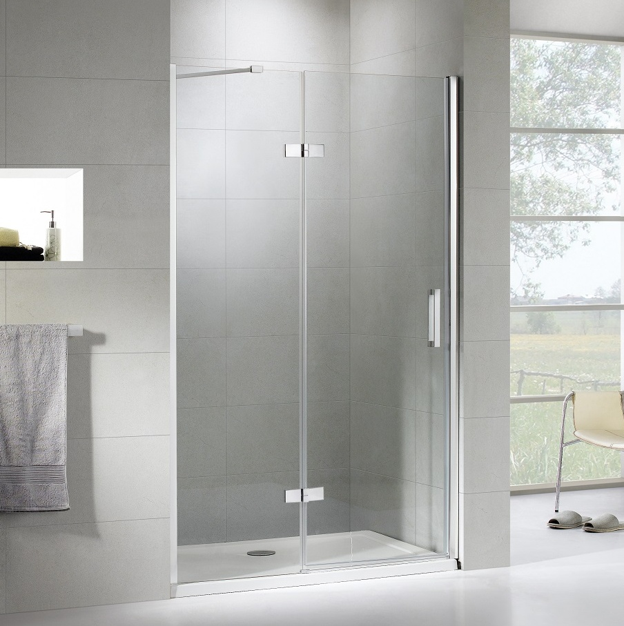 frameless hinge swing shower door